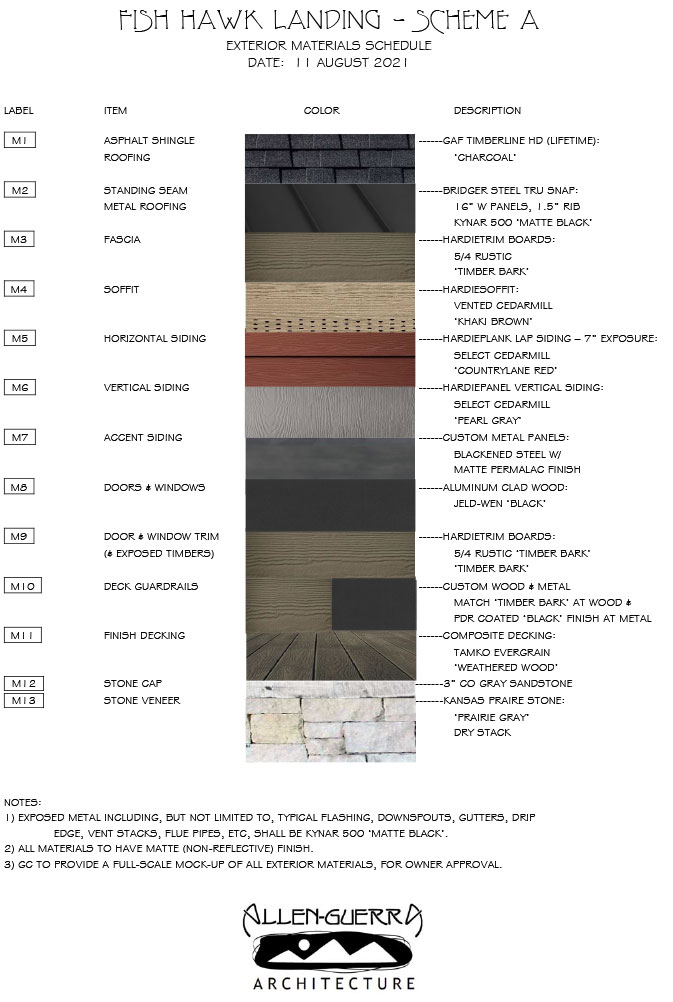 Fish Hawk Landing Exterior Materials Scheme A