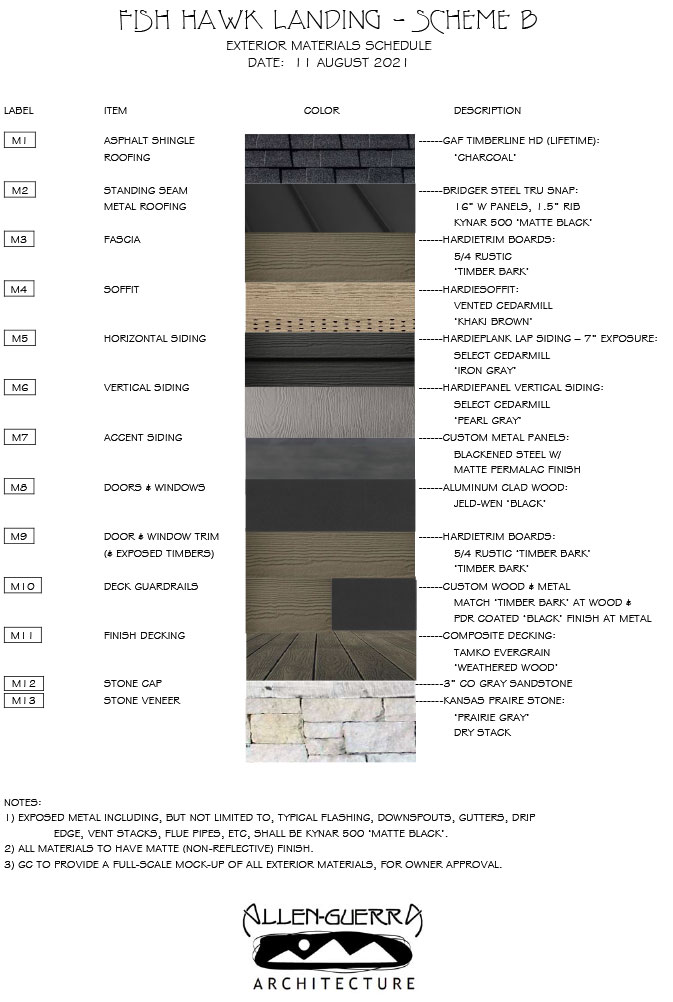 Fish Hawk Landing Exterior Materials Scheme B